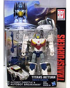 HASBRO TRANSFORMERS GENERATIONS TITANS RETURN DELUXE CLASS AUTOBOT THROTTLE & AUTOBOT BREAKAWAY
