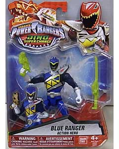 USA BANDAI POWER RANGERS DINO SUPER CHARGE 5インチアクションフィギュア BLUE RANGER