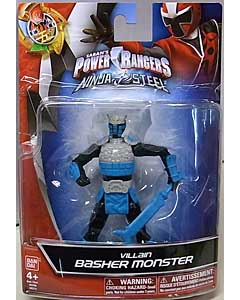 USA BANDAI POWER RANGERS NINJA STEEL 5インチアクションフィギュア VILLAIN BASHER MONSTER