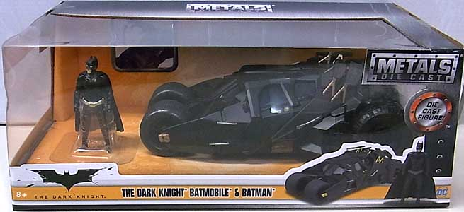 JADA TOYS BATMAN THE DARK KNIGHT METALS DIE CAST 1/24スケール THE DARK KNIGHT BATMOBILE & BATMAN パッケージワレ特価