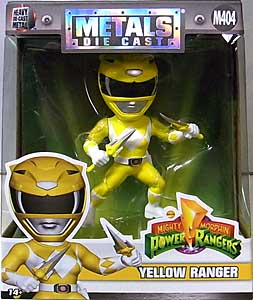 JADA TOYS POWER RANGERS MIGHTY MORPHIN METALS DIE CAST 4インチフィギュア YELLOW RANGER