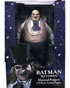 NECA BATMAN RETURNS 1/4スケールアクションフィギュア MAYORAL PENGUIN [DANNY DEVITO]