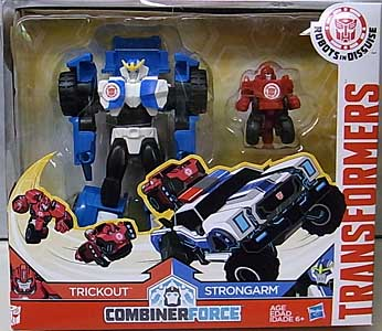 HASBRO アニメ版 TRANSFORMERS ROBOTS IN DISGUISE COMBINER FORCE ACTIVATOR COMBINER STRONGARM AND TRICKOUT