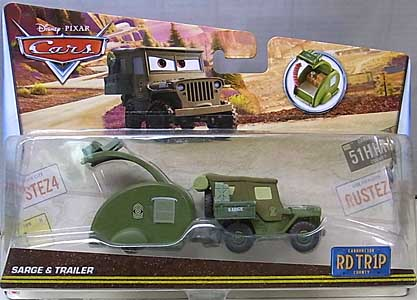 MATTEL CARS 2017 ROAD TRIP SARGE & TRAILER 台紙傷み特価