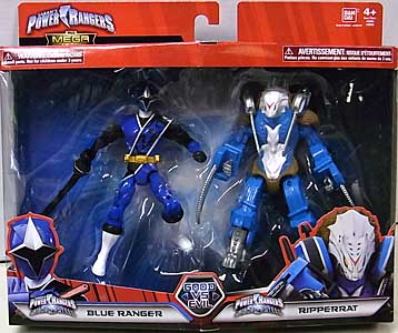 USA BANDAI POWER RANGERS THE MEGA COLLECTION 5インチアクションフィギュア 2PACK NINJA STEEL BLUE RANGER & RIPPERRAT