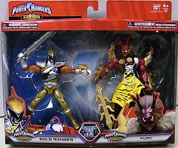 USA BANDAI POWER RANGERS THE MEGA COLLECTION 5インチアクションフィギュア 2PACK DINO CHARGE GOLD RANGER & FURY
