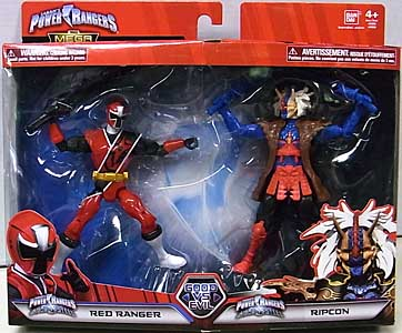 USA BANDAI POWER RANGERS THE MEGA COLLECTION 5インチアクションフィギュア 2PACK NINJA STEEL RED RANGER & RIPCON