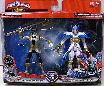 USA BANDAI POWER RANGERS THE MEGA COLLECTION 5インチアクションフィギュア 2PACK SUPER MEGAFORCE SILVER RANGER & PRINCE VEKAR