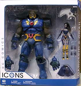 DC COLLECTIBLES DC COMICS ICONS DARKSEID & GRAIL 2PACK