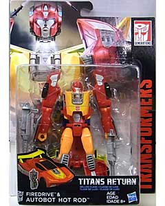 HASBRO TRANSFORMERS GENERATIONS TITANS RETURN DELUXE CLASS FIREDRIVE & AUTOBOT HOT ROD 台紙傷み特価