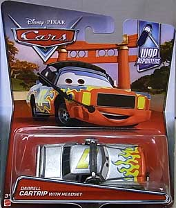 MATTEL CARS 2017 シングル DARRELL CARTRIP WITH HEADSET 台紙傷み特価