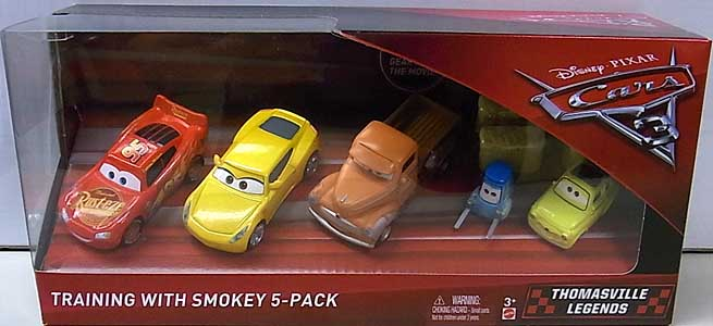 MATTEL CARS 3 TRAINING WITH SMOKEY 5PACK