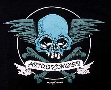 ASTRO ZOMBIES / SKULL WING Tシャツ (ブルー)