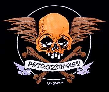ASTRO ZOMBIES / SKULL WING Tシャツ (オレンジ)
