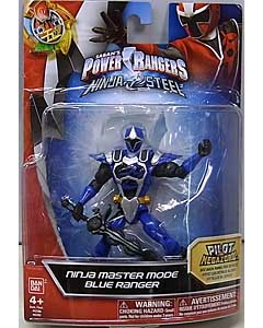 USA BANDAI POWER RANGERS NINJA STEEL 5インチアクションフィギュア NINJA MASTER MODE BLUE RANGER