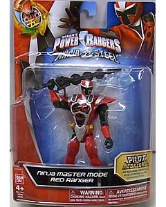 USA BANDAI POWER RANGERS NINJA STEEL 5インチアクションフィギュア NINJA MASTER MODE RED RANGER