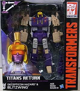 HASBRO TRANSFORMERS GENERATIONS TITANS RETURN VOYAGER CLASS DECEPTICON HAZARD & BLITZWING パッケージ傷み特価