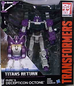 HASBRO TRANSFORMERS GENERATIONS TITANS RETURN VOYAGER CLASS MURK & DECEPTICON OCTONE
