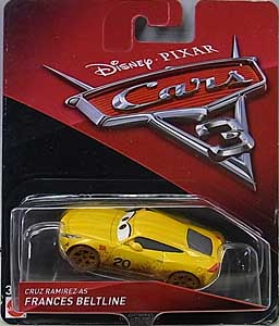 MATTEL CARS 3 シングル CRUZ RAMIREZ AS FRANCES BELTLINE ブリスター傷み特価