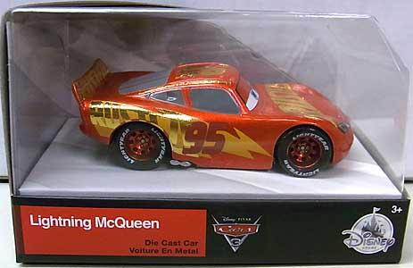 CARS 3 USAディズニーストア限定 ダイキャストミニカー RUST-EZE RACING CENTER LIGHTNING McQUEEN タンポ傷み特価