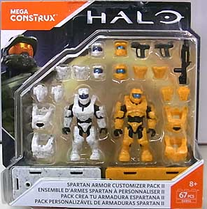 MEGA CONSTRUX HALO SPARTAN ARMOR CUSTOMIZER PACK II 台紙傷み特価