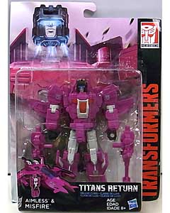 HASBRO TRANSFORMERS GENERATIONS TITANS RETURN DELUXE CLASS AIMLESS & MISFIRE