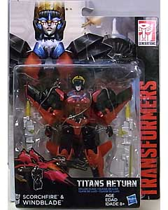 HASBRO TRANSFORMERS GENERATIONS TITANS RETURN DELUXE CLASS SCORCHFIRE & WINDBLADE