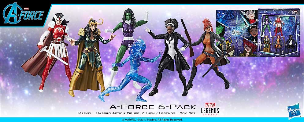 HASBRO MARVEL LEGENDS 2017 A-FORCE HEROINES 6PACK