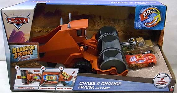 MATTEL CARS 2016 RADIATOR SPRINGS CLASSIC COLOR CHANGERS CHASE & CHANGE FRANK GIFT PACK