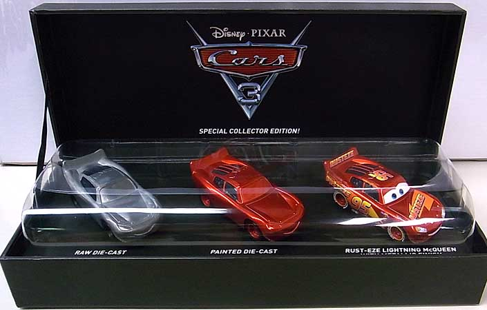2017年 サンディエゴ・コミコン限定 MATTEL CARS 3 THE MAKING OF CARS 3 LIGHTNING McQUEEN DIE-CAST VEHICLE 3PACK