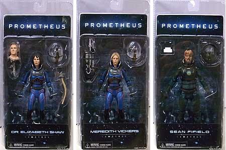 NECA PROMETHEUS 7インチアクションフィギュア シリーズ4 3種セット