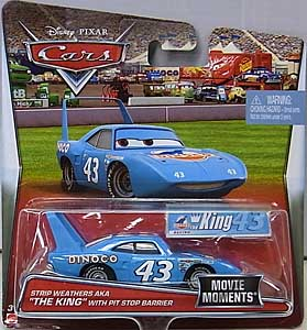 MATTEL CARS 2017 シングル MOVIE MOMENTS STRIP WEATHERS AKA THE KING WITH PIT STOP BARRIER