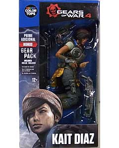 McFARLANE GEARS OF WAR 4 COLOR TOPS: BLUE WAVE 7インチアクションフィギュア KAIT DIAZ
