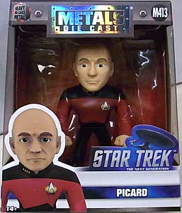 JADA TOYS STAR TREK THE NEXT GENERATION METALS DIE CAST 4インチフィギュア PICARD