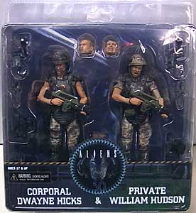 NECA ALIEN 7インチアクションフィギュア ALIENS 2 COLONIAL MARINES 30TH ANNIVERSARY 2PACK DWAYNE HICKS & WILLIAM HUDSON
