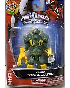 USA BANDAI POWER RANGERS NINJA STEEL 5インチアクションフィギュア VILLAIN STONEDOZER