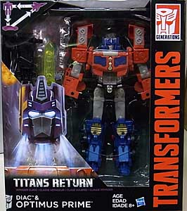 HASBRO TRANSFORMERS GENERATIONS TITANS RETURN VOYAGER CLASS DIAC & OPTIMUS PRIME