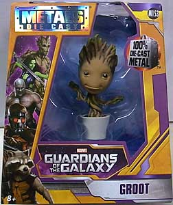 JADA TOYS 映画版 GUARDIANS OF THE GALAXY METALS DIE CAST 4インチフィギュア BABY GROOT
