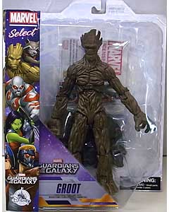 DIAMOND SELECT MARVEL SELECT USAディズニーストア限定 GUARDIANS OF THE GALAXY GROOT パッケージ傷み(大)特価