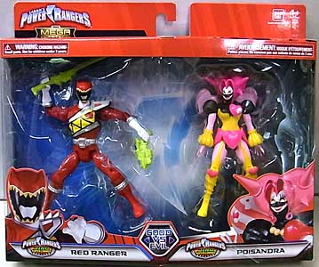 USA BANDAI POWER RANGERS THE MEGA COLLECTION 5インチアクションフィギュア 2PACK DINO SUPER CHARGE RED RANGER & POISANDRA