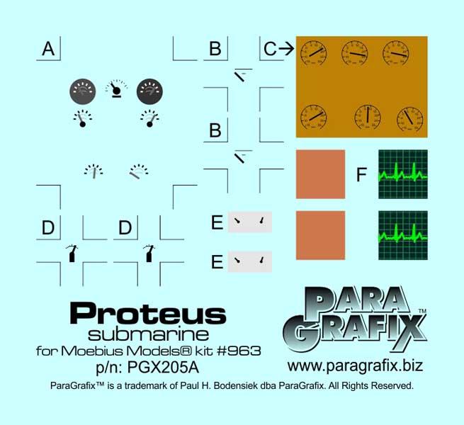 PARAGRAFIX メビウスモデル 1/32スケール ミクロの決死圏 特殊潜航艇プロテウス号用 エッチングパーツ&デカールセット / PGX205