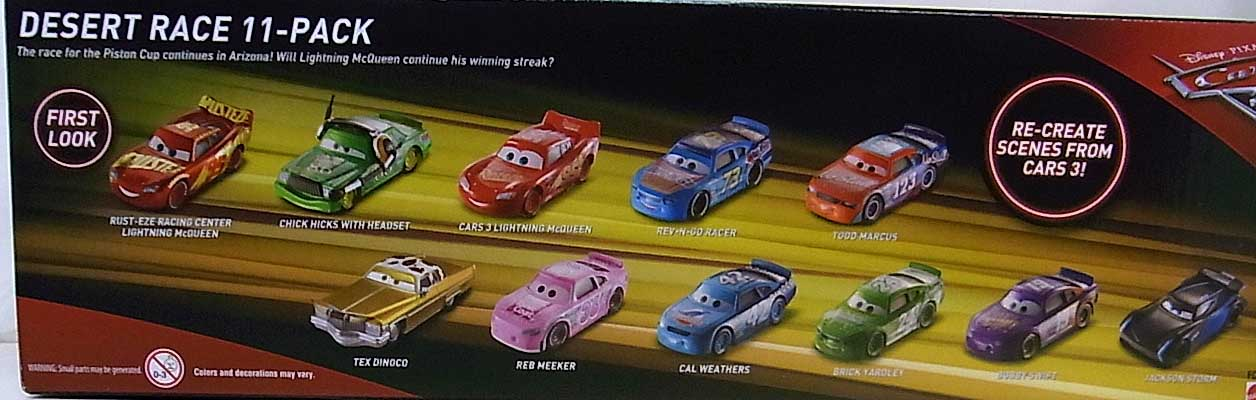 MATTEL CARS 3 DESERT RACE 11PACK