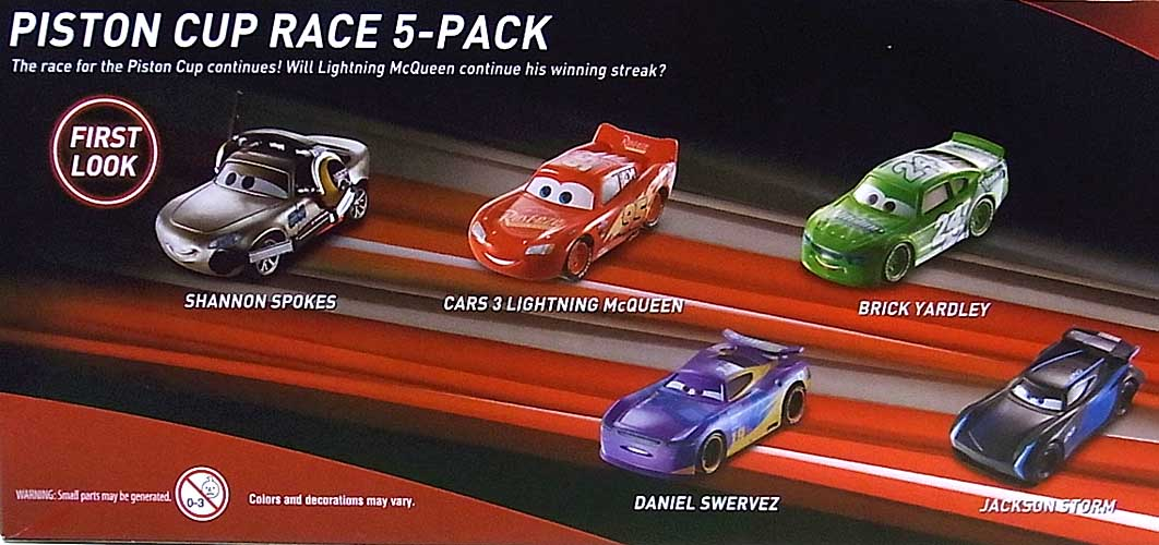 MATTEL CARS 3 PISTON CUP RACE 5PACK
