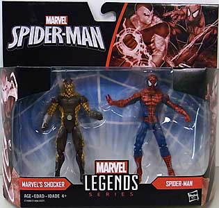 HASBRO MARVEL LEGENDS SERIES 2017 3.75インチアクションフィギュア 2PACK MARVEL'S SHOCKER & SPIDER-MAN