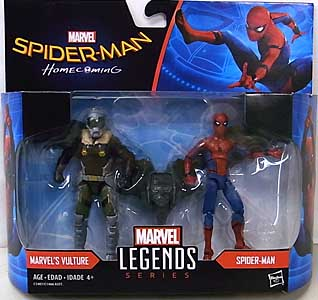 HASBRO MARVEL LEGENDS SERIES 2017 3.75インチアクションフィギュア 2PACK 映画版 SPIDER-MAN: HOMECOMING MARVEL'S VULTURE & SPIDER-MAN