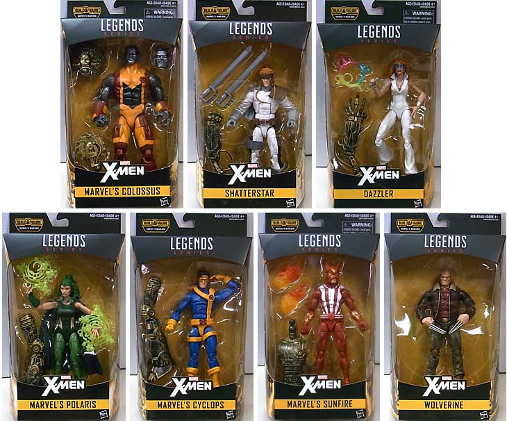 HASBRO MARVEL LEGENDS 2017 X-MEN SERIES 2.0 7種セット [WARLOCK SERIES] [国内版]
