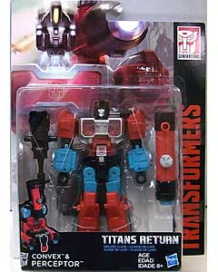 HASBRO TRANSFORMERS GENERATIONS TITANS RETURN DELUXE CLASS CONVEX & PERCEPTOR