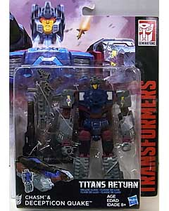 HASBRO TRANSFORMERS GENERATIONS TITANS RETURN DELUXE CLASS CHASM & DECEPTICON QUAKE 台紙傷み特価