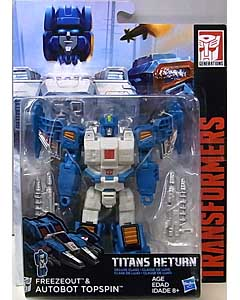 HASBRO TRANSFORMERS GENERATIONS TITANS RETURN DELUXE CLASS FREEZEOUT & AUTOBOT TOPSPIN 台紙傷み特価