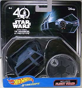 MATTEL HOT WHEELS STAR WARS 40TH ANNIVERSARY DIE-CAST VEHICLE DARTH VADER'S TIE ADVANCED X1 PROTOTYPE 台紙傷み特価